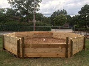Gaga ball pit, donated by the class of 2022, located in the fields behind the WA gym.