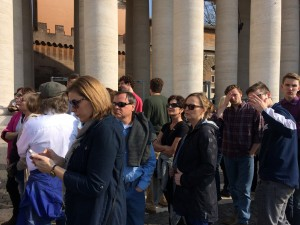 Day 9: Waiting on line at Basilica Papale di San Pietro in Vaticano