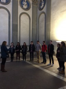 Day 4: An impromptu choral performance in the Capella Pazzi