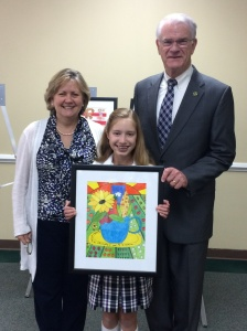 Westminster Head of School, Debbie Frazier, with student Sarah Catherine Donovan and Mayer Mark Luttrell.