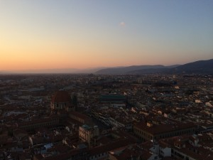 Day 1: Our sunset view from the top of Brunelleschi's Dome of Santa Maria del Fiore