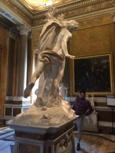 Day 8: Admiring Bernini's 'Apollo and Daphne' at the Galleria Borghese, Rome