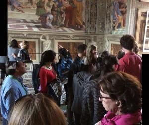 Day 9: Raphael's 'School of Athens' in the Stanza della Segnatura in the Museo Vaticani