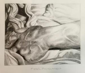 Detail of 'Moses', by E. Jordan, grade 11