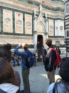 Day 2: Philip Throckmorton and Pender Wells educate our group on Giotto's Campanile